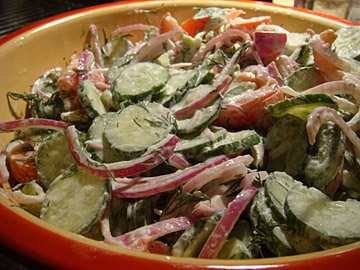Tamara's Mom's Cucumber Salad