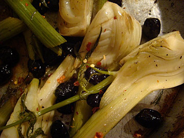 Roasted Fennel with Black Olives