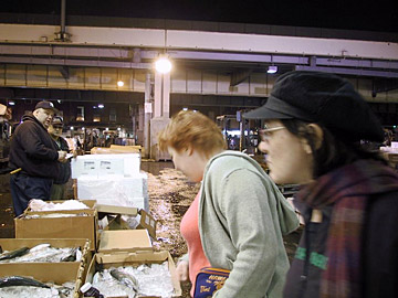 Late night at the Fulton Fish Market (RIP), when we went to load up on oysters