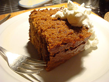 Orange Gingerbread, with a dangerous amount of whipped cream
